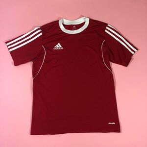 Adidas climate red workout tee